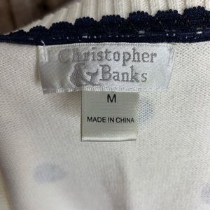 Christopher & Banks Sweaters - Christopher & Banks Polka Dot Sweater Cardigan (M)